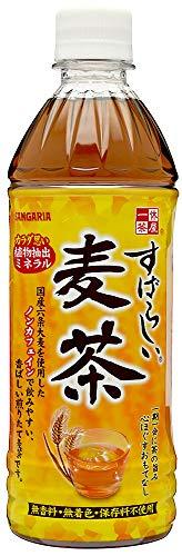 サンガリア すばらしい麦茶 500ml×24本