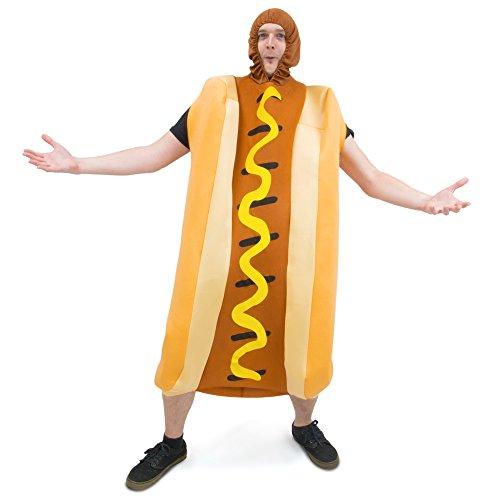 Footlong Hot Dog & Wiener Bun Halloween Costume - Unisex Men Women Sausage Suit