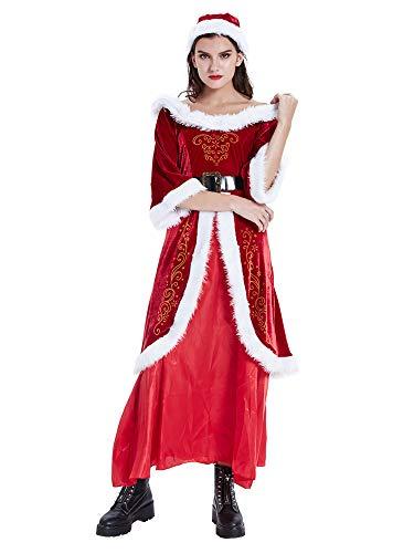 Feynman Vestido de Papá Noel para Navidad Novedad Ropa Fiesta Disfraces Santa Claus Costume XL