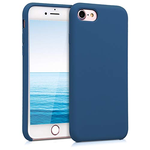 kwmobile Cover Compatibile con Apple iPhone 7/8 / SE (2020) - Custodia in Silicone TPU - Back Case Protezione Cellulare Blu Marino