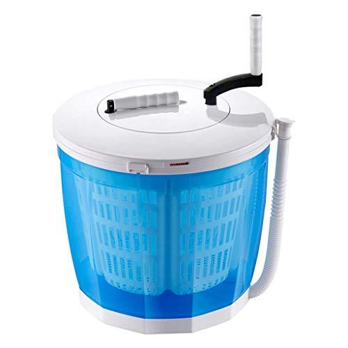 Unknow Ropa Manual con manivela portátil Lavadora no eléctrica y Secadora, Lavadora de encimera, Limpieza, Enjuague y Centrifugado, Apartamentos o Dormitorio de Estudiantes, Azul