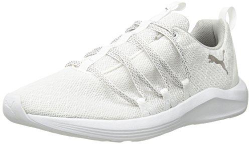 PUMA Women's Prowl Alt Knit Mesh Wn Sneaker White-Metallic Beige, 9 M...