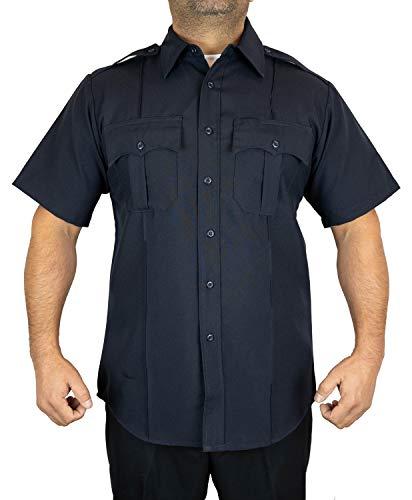 First Class Short-Sleeve Uniform Shirt 1XL Navy Blue