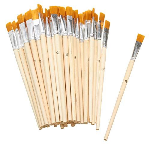50 Flachpinsel Acrylpinsel malen Synthetikhaar Größe 10 VBS Großhandelspackung