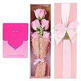 Meiyya Flores Falsas, fáciles de Llevar Ligero Tamaño Compacto Aspecto Rosa para decoración del hogar Festival para niñas para Mujeres