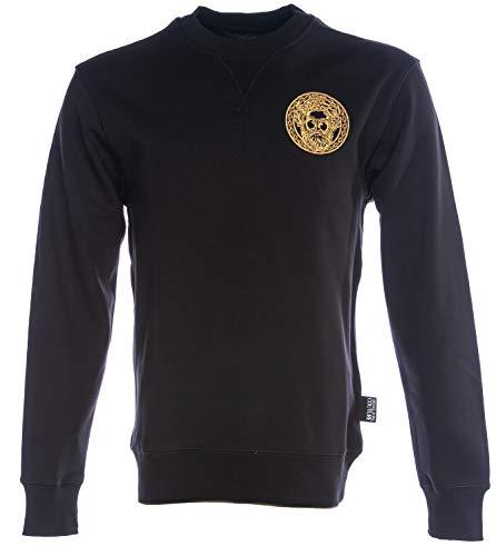 Versace Jeans Couture Embroidered Head Logo Sweatshirt MEDIUM Black Gold