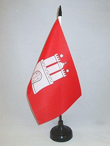 AZ FLAG TISCHFLAGGE Hamburg 21x14cm - Hamburg TISCHFAHNE 14 x 21 cm - flaggen