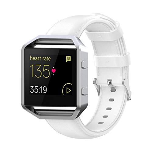 ibasenice Correa para Fitbit Blaze, Correa de Reloj, joyería, Pulsera de Reloj, Pulsera de reemplazo Compatible para Fitbit Blaze - Blanco