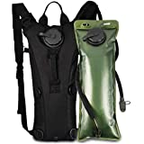 VBG VBIGER Hydration Pack with 2L Bladder Water Bag Great for Hunting Climbing Running and Hiking (Black , One Size)