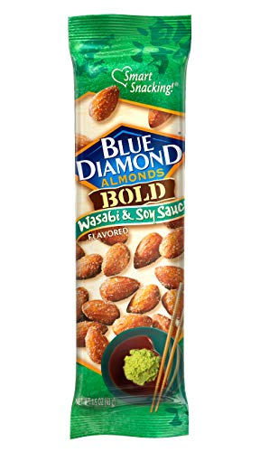 Blue Diamond Almonds, Bold Wasabi & Soy, 1.5 Ounce (Pack of 12)
