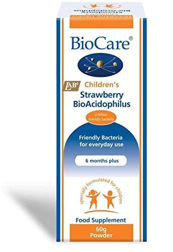 Biocare 60g Children's Strawberry Bio Acidophilus Powder