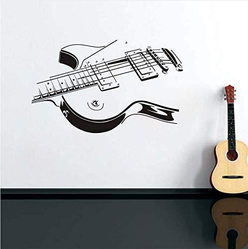 Gitarrensaite Silhouette Abziehbilder Vinyl Wandaufkleber Wandkunst Wandbilder Abnehmbare Wasserdichte Tapete Für Musik Schlafzimmer Wohnkultur