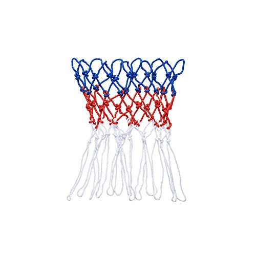 AILOVA Ersatz-Basketballnetz,Robustes und Strapazierf/ähiges Nylon Geflecht Dreifarbiger Basketballkorb Passend f/ür Standardfelgen f/ür den Innen und Au/ßenbereich 12 Schlaufen