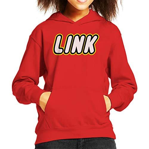 Legend of Zelda Link Lego Logo Kid's Hooded Sweatshirt