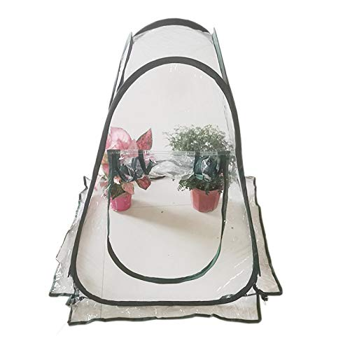 HWLL Mini Cubierta de Invernadero, Carpa Emergente Casa de Cultivo de PVC, Cubierta de Casa Verde de Jardín Portátil para Exterior e Interior