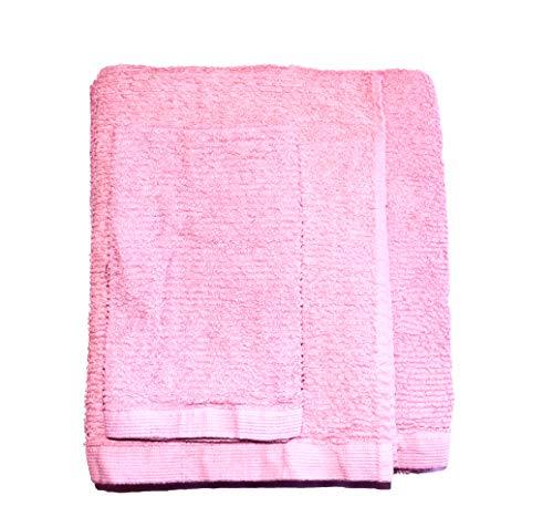 Exotic Cotton Juego de Toallas de Baño M 70 x 140 cm 100% Algodón – 3 Piezas de Secado Rápido – Toalla de Cara 30x50 cm, Toalla de Mano 50x100 cm y Toalla de Ducha 70 x 140 cm – Toallas Rosas Palo