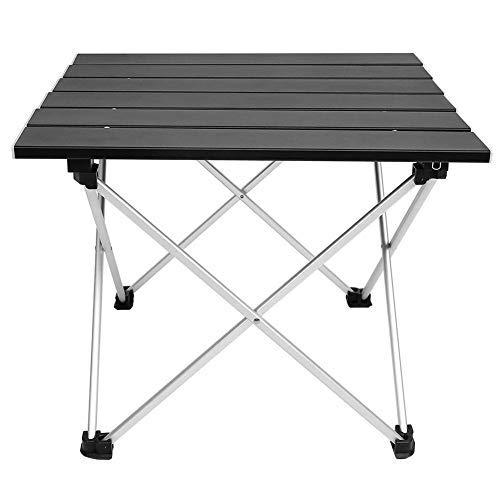 Opklapbare campingtafel, draagbare klaptafel van aluminiumlegering, stabieler Bbq camping bijzettafel bureaus met antislip rubberen voetsteunen van vier voet voor barbecue, picknick, strand, boot