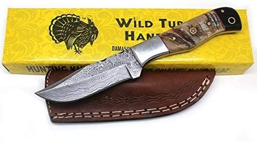New products, world's highest quality popular! Wild Turkey Rapid rise Handmade Damascus Collection 8.5'' Blade Hunti Fixed