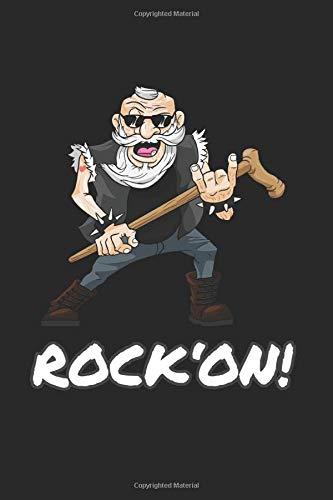 Rock On Quaderno: Heavy Metal Taccuino A5 quadretti Quaderno Schizzi Blocco note metallaro l'agenda Regalometallo papà Libretto - a quadretti