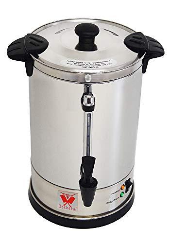 Beeketal 'BGK6' Gastro Rundfilter Kaffeemaschine 6 Liter, Edelstahl Filterkaffeemaschine doppelwandig mit 2 Heizsystemen (Brühen/Warmhalten), Füllstandsanzeiger und rosftreiem Permanent-Filter