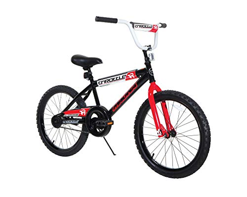Dynacraft Magna Throttle Boys BMX Street/Dirt Bike 20u0022, Black/Red/White