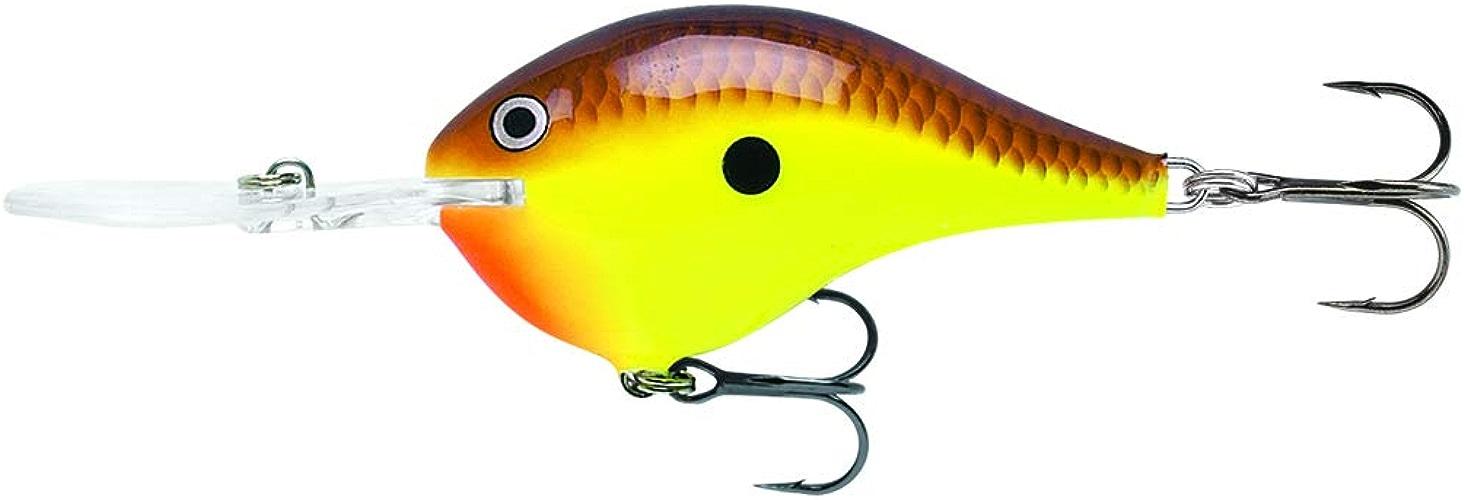 Rapala Dives-to 10Leurre de pêche, 5,7cm, Chartreuse Marron