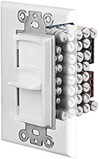 SKR120 Resistor Based 150W In-Wall Slider Style Home Theater Speaker Volume Control Switchable Decora Plates - OSD Audio - (White, Ivory, Almond)