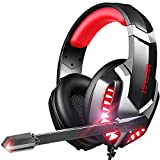 Gaming Headset, Gaming Headphones with Microphone Noise Cancelling Over-Ear Headphones, Stereo...