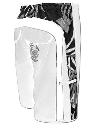 Seestern FBA_1743 - Bañador para hombre, con goma elástica y bolsillos delanteros, tallas S-3XL, Blanco, XS