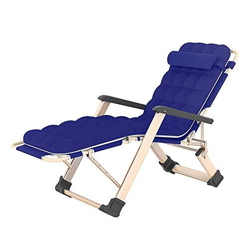 Lazy Sofa Liegestuhl Siesta Einzel Sofa Klappstuhl Arbeitszimmer Klappbett als Strand-Stuhl ZHNGHENG