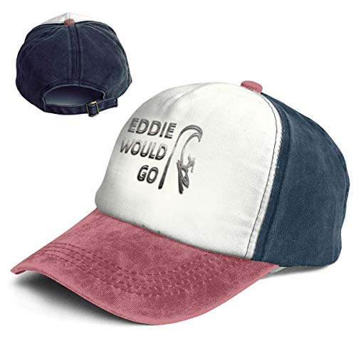 Vintage Eddie Would Go Steel Effect Cotton Adjustable Washed Dad Hat Baseball Cap