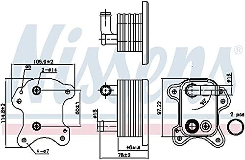 Nissens 90801 Radiateur d'huile de moteur