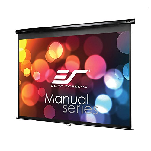 Elite Screens Manual Series, 120-INCH 4:3, Pull Down Manual Projector Screen with AUTO LOCK, Movie Home Theater 8K / 4K Ultra HD 3D Ready, 2-YEAR WARRANTY, M120UWV2