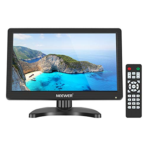 Neewer 11.6 inch HDMI Small TV Monitor, Portable TV 1920x1080 16:9 TFT-IPS LCD Screen Support TV/HDMI/VGA/BNC/AV/USB Input with Remote Control Built-in Speaker for DVD PC Raspberry pi 3 2 1 Computer