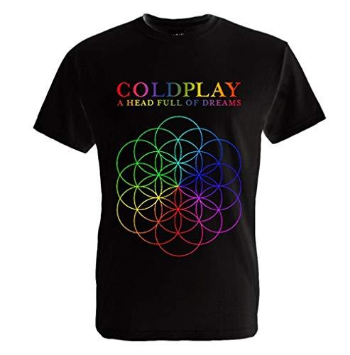 Coldplay A Head Full of Dreams Logo T Shirt Black Size Smallharajuku Streetwear Shirt Men