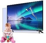 Filtro Mate Anti deslumbramiento para 32 75 Pulgadas TV, Bloques 96% UV Luz Azul, Accesorios PS5 OLED LED LCD TV Protector de Pantalla Película Interior y al Aire Libre,50' 1095 * 616