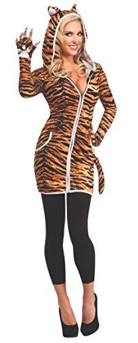 Disfraz de tigresa para mujer, con sudadera y capucha, Talla nica adulto (Rubie's 880758)