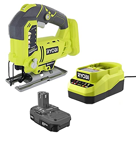 Ryobi 18 Volt Lithium-Ion Orbital Jig Saw Combo Kit with Battery and Charger (Bulk Packaged, Non-Retail Packaging)