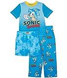 Komar Kids Boy's Sonic Three-Piece Short Sleeve Set (Little Kids/Big Kids) Blue Print SM (6-7 Little Kids)