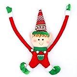 Adornos para árboles de navidad Decoración navideña Elf Doll Muñeca Peluche Árbol de Navidad Colgando Ornamento Feliz Navidad Año Nuevo Juguetes Decoración Decoración navideña ( Color : Red doll )