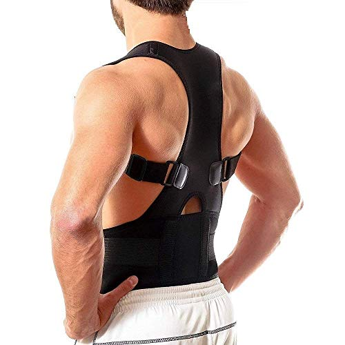 Venganza Unisex Magnetic Back Brace Posture Corrector Therapy Shoulder Belt for Lower and Upper Back Pain Relief, Posture Corrector Men for Women, Back Support Belt for Back Pain