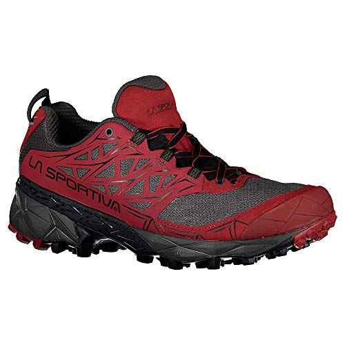 LA SPORTIVA Akyra, Zapatillas de Mountain Running Hombre, Carbon/Chili, 38 EU