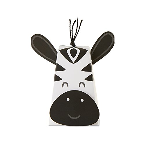 Kate Aspen 28382NA Zebra (Set of 12) Favor Boxes, Black and White