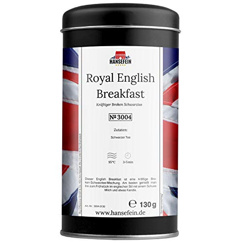 Hansefein Royal English Breakfast Schwarzer Tee Broken 130g in Aromadose