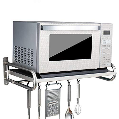 JJJJD Küchenregal/Mikrowellen-Rack/Boden/Edelstahl Rack/Küche Zubehör Lagerregal/Anhänger (Size : 18 * 38 * 58cm)