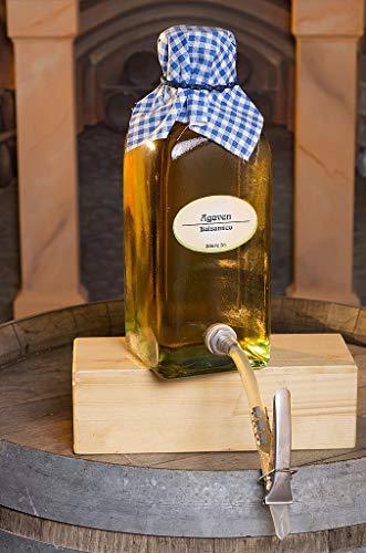 Agaven Balsamico - Essig - Duft Frucht, süßlich, milder Essig Geschmack: beherrschende Frucht Note mit einer dezenten Süße und einem milden leckeren Essiggeschmack im Nachgang Säure: 5% (200 ml)
