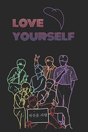 Love Yourself K pop 110 Lined Pages Journal Notebook Kpop accessories Kpop gift unique gifts product image
