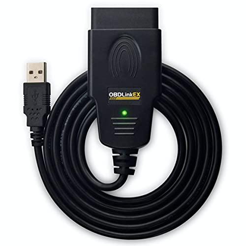 OBDLink ScanTool EX USB – Koffer/Werkzeug fürs Auto professionell, mehrere Marken – kompatibel mit OBD2/RenoLink/ForScan/MultiECUScan
