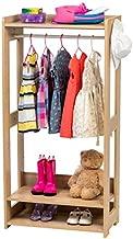 IRIS USA Kid's Dress Up Clothing Garment Rack, Natural