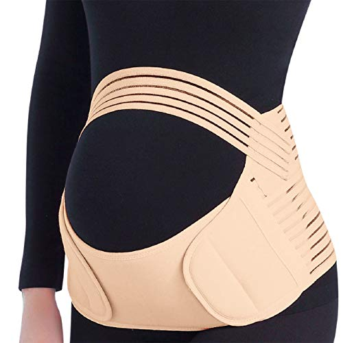 Tuopuda Bauchgurt Bauchband Schwangerschaft Stützgürtel Verstellbar Bauchgürtel Schwangerschaftsgurt Bauchstütze Umstandsgürtel Schwangerschaftsbandage Stützt Taille, Rücken, Bauch